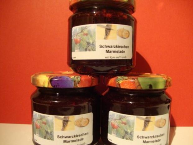 Schwarzkirschen-Marmelade, gepimmt mit Vanille und Rum - Rezept - Bild Nr. 7