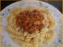 Pasta mit gemischten Salat - Rezept