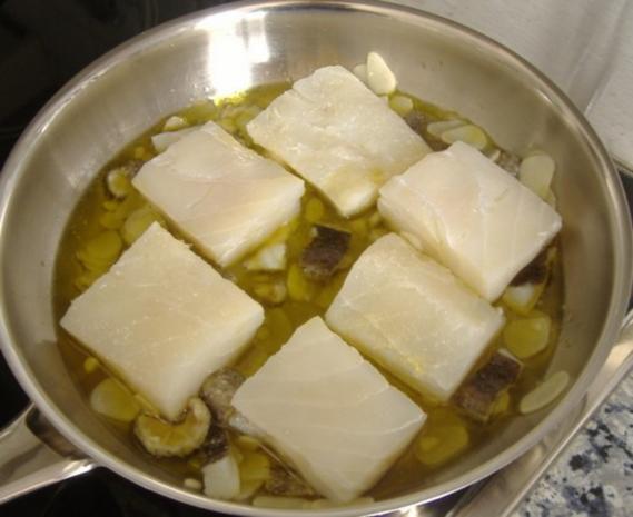 Bacalao mit Knoblauch und Schinkenkartoffeln - Rezept - Bild Nr. 3