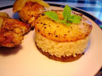 Fruchtige Reis-Beilage in Törtchenform ... - Rezept