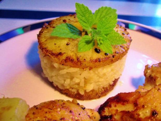 Fruchtige Reis-Beilage in Törtchenform ... - Rezept - Bild Nr. 3