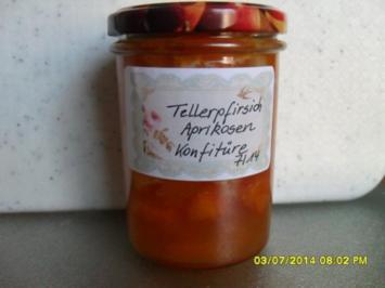 Tellerpfirsich-Aprikosen-Konfitüre - Rezept