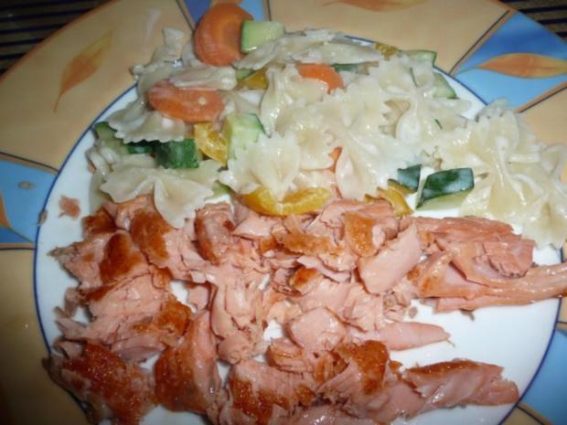 Gemüse - Nudeln mit Lachs - Rezept - Bild Nr. 3