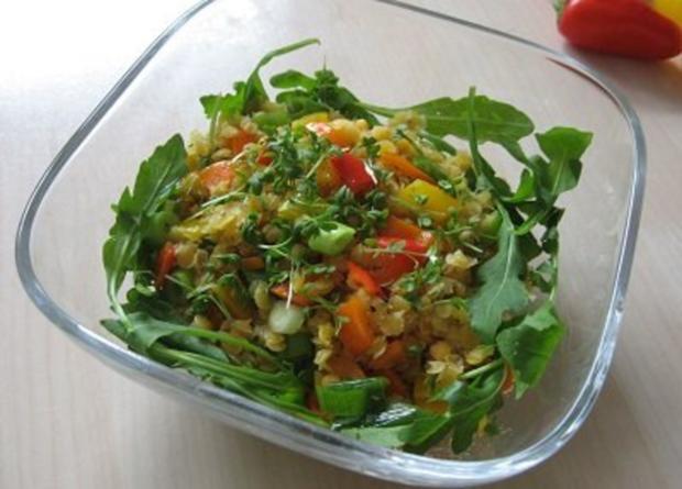 Linsen-Paprika-Salat - Rezept