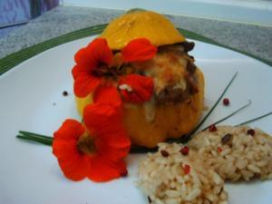 Gefüllte Zucchini- Ufo´s - Rezept