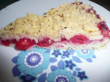 Kirschkuchen auf Hefeteig mit Crumble ! - Rezept