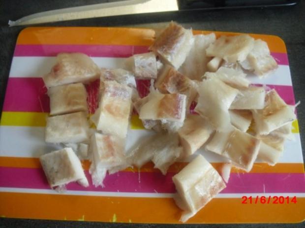Fischsauce mit grüne Nudeln, - Rezept - Bild Nr. 2