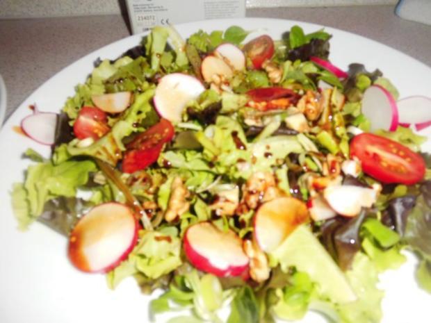 Ziegenkäse Honig Toast mit Salat Garniert - Rezept - Bild Nr. 5