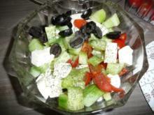 Salat Griechische Art - Rezept
