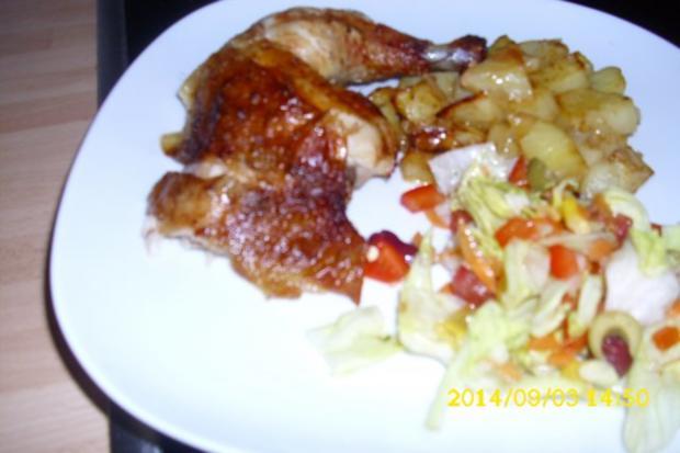 Hähnchen gebacken - Rezept - Bild Nr. 10