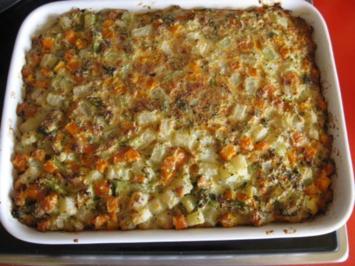 Gemüseauflauf mit Ziegenfrischkäse - Rezept