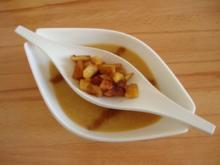 gekühlte Cidresuppe aus flambierten, karamelisierten Äpfel - Rezept