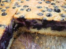 Backen: Heidelbeerkuchen mit Marzipanguss - Rezept