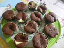Schokomuffins mit Frischkäse - Rezept