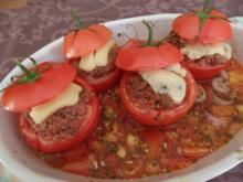 Scharf gefüllte Tomaten - Rezept