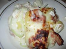 Kartoffel - Leberwurst - Auflauf - Rezept