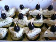 Überbackene Zucchini - Schafskäse - Scheiben - Rezept
