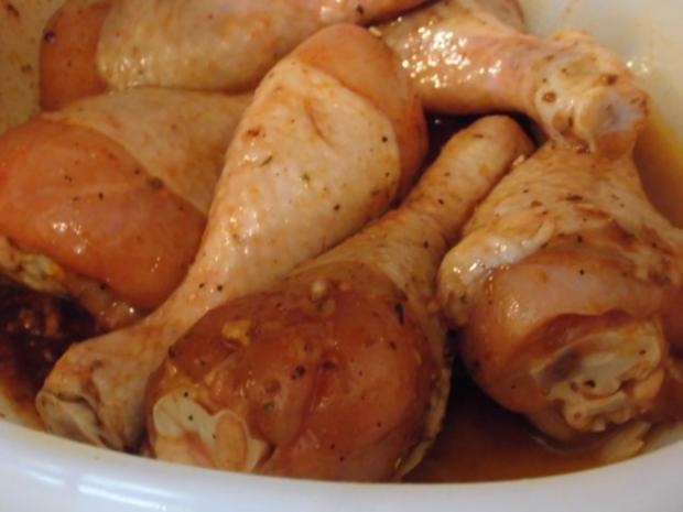 Hähnchen Unterschenkel mit warmem Bulgur Salat - Rezept - Bild Nr. 2