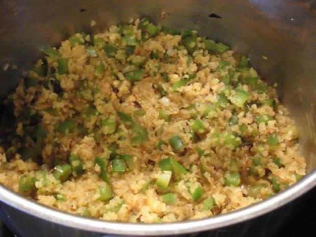 Hähnchen Unterschenkel mit warmem Bulgur Salat - Rezept - Bild Nr. 4