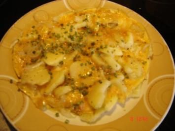 Rezept: Resteverwertung: Kartoffel-Omelett
