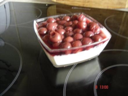 Kirsch-Zitronenquark-Speise - Rezept