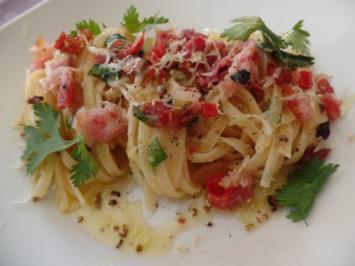 Spaghetti mit Speck - Rezept