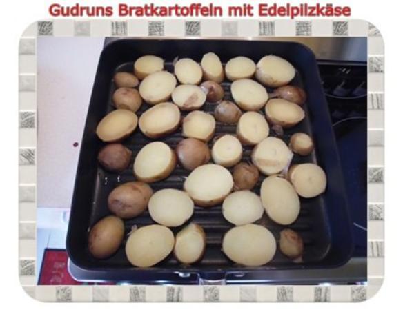 Kartoffeln: Bratkartoffeln mit Edelpilzkäse - Rezept - Bild Nr. 3
