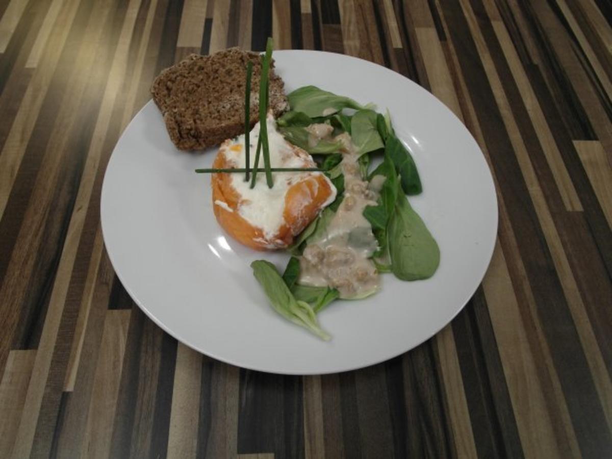 Bilder für Räucherlachsterrine mit Meerrettichmousse an Vogerlsalat - Rezept