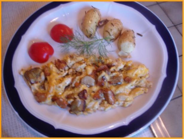 Eierpilz-Omelett - Rezept