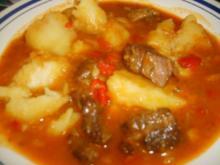 Rindfleischgulasch - Rezept
