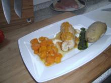 Hähnchenrouladen gefüllt mit Schinken, Paprika und Frischkäse - Rezept