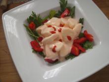 Tintenfisch-Cocktail auf Rucola-Paprika - Rezept