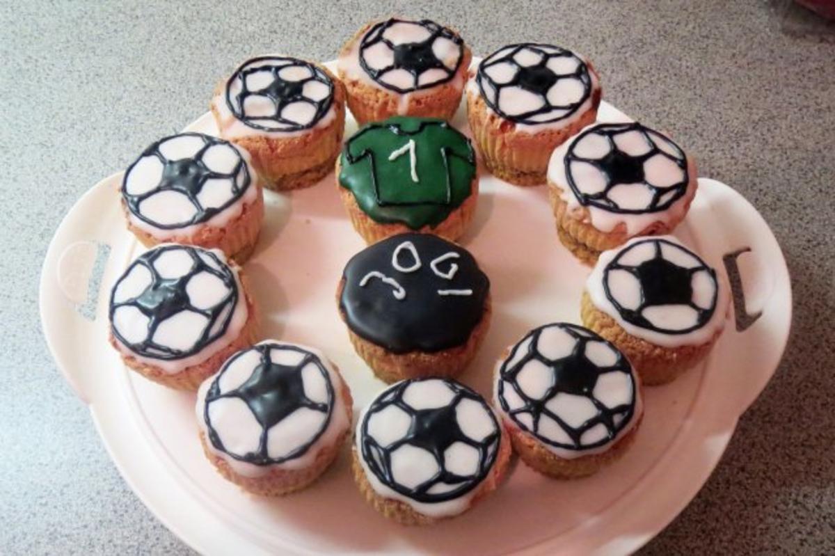 Fußball Muffins Backen