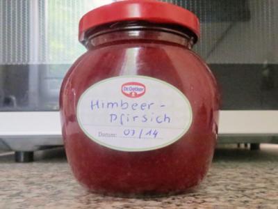 Einmachen: Himbeer-Pfirsich-Marmelade - Rezept