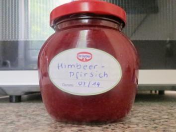 Rezept: Einmachen: Himbeer-Pfirsich-Marmelade
