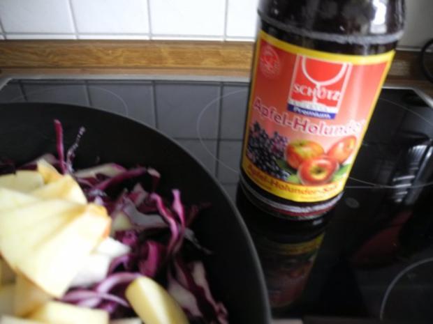 Beilage : Apfel - Holunder - Rotkraut - Rezept - Bild Nr. 5