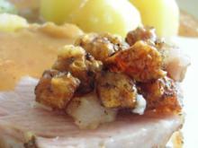 Krustenbraten NT mit neuen Kartoffeln, endlos Kohlrabi und Weißbiersoße - Rezept