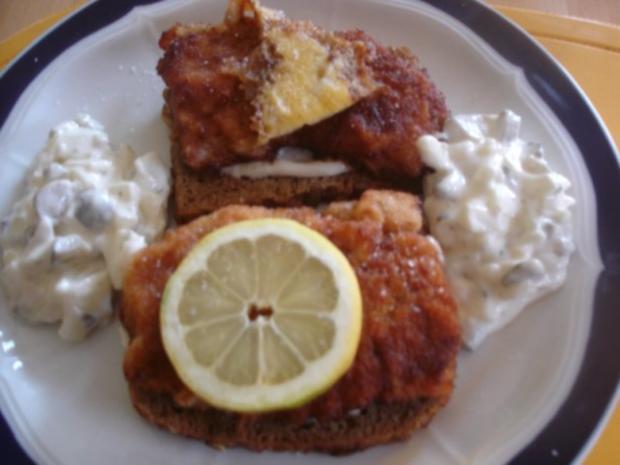 Schnitzelbrot mit Tatarsauce *) - Rezept