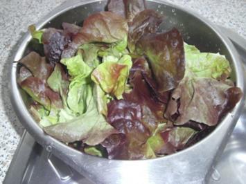 Salatplatte mit Hähnchenstreifen - Rezept