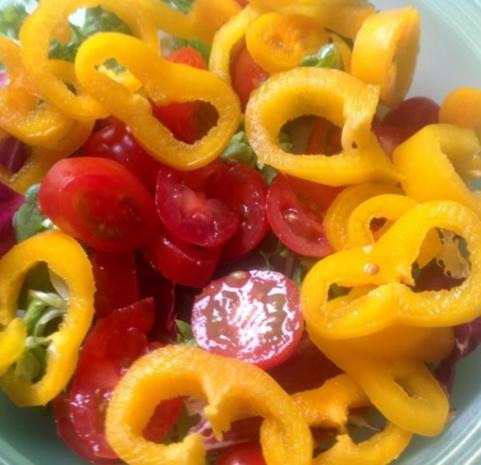 Fruchtiger gemischter Salat mit Käse - Rezept - Bild Nr. 4