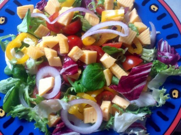 Fruchtiger gemischter Salat mit Käse - Rezept - Bild Nr. 5