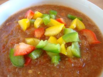 geeiste Gemüsesuppe mit Pepp - Rezept