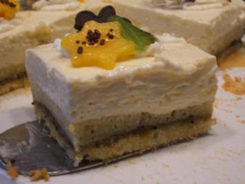 Rezept: Backen: Mango-Kiwi-Schnitten