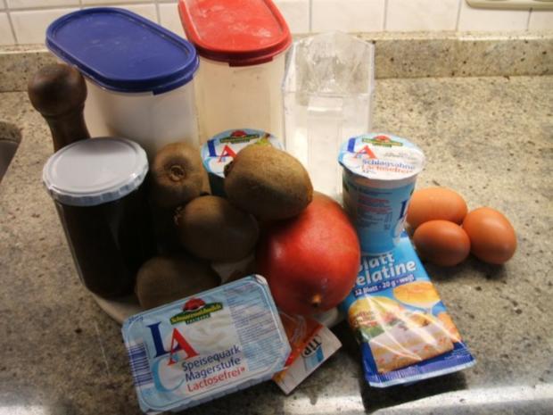 Backen: Mango-Kiwi-Schnitten - Rezept - Bild Nr. 2