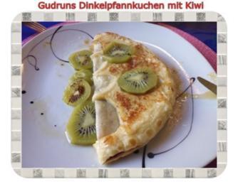 Kuchen: Kiwi-Pfannkuchen mit Dinkelmehl - Rezept