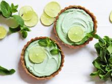 Veganer Limetten-Minz-Cheesecake - Rezept