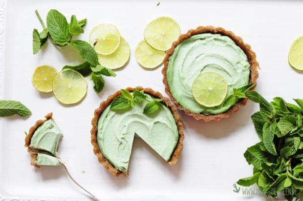 Veganer Limetten-Minz-Cheesecake - Rezept - Bild Nr. 2