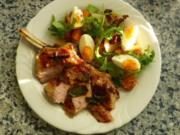 Kohlrabi-Pfifferling-Salat mit Kalbskotelett - Rezept