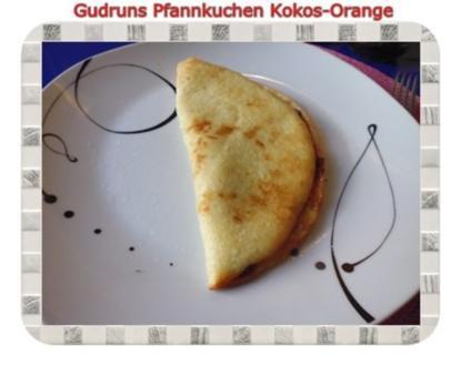 Kuchen: Pfannkuchen Kokos-Orange - Rezept