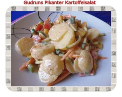 Salat: Pikanter Kartoffelsalat - Rezept
